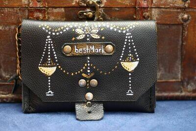 საფულე 15x10 სმ - სასწორი / Leather Wallet Libra