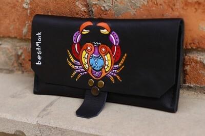 საფულე 21x10 სმ - კირჩხიბი / Leather Wallet Cancer
