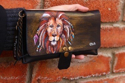 საფულე 21x10 სმ - ლომი / Leather Wallet leo