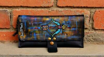 საფულე 21x10 სმ - მშვილდოსანი / Leather Wallet Sagittarius