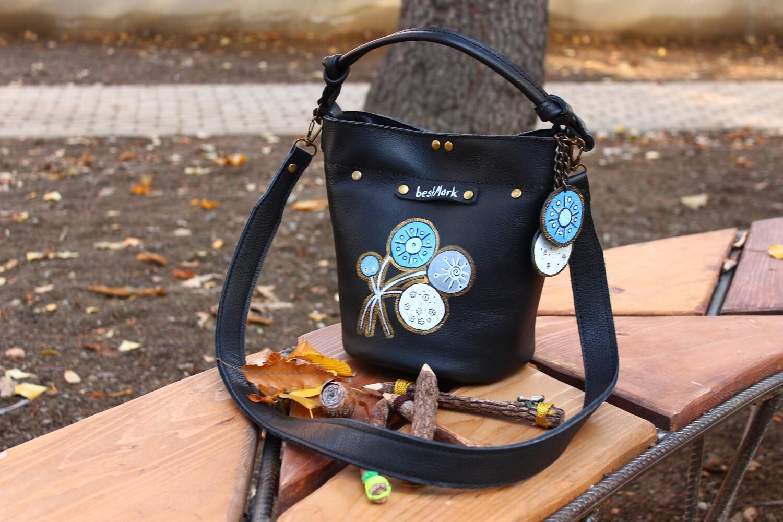 ჩანთა 21x25x16 სმ - Leather  Bag