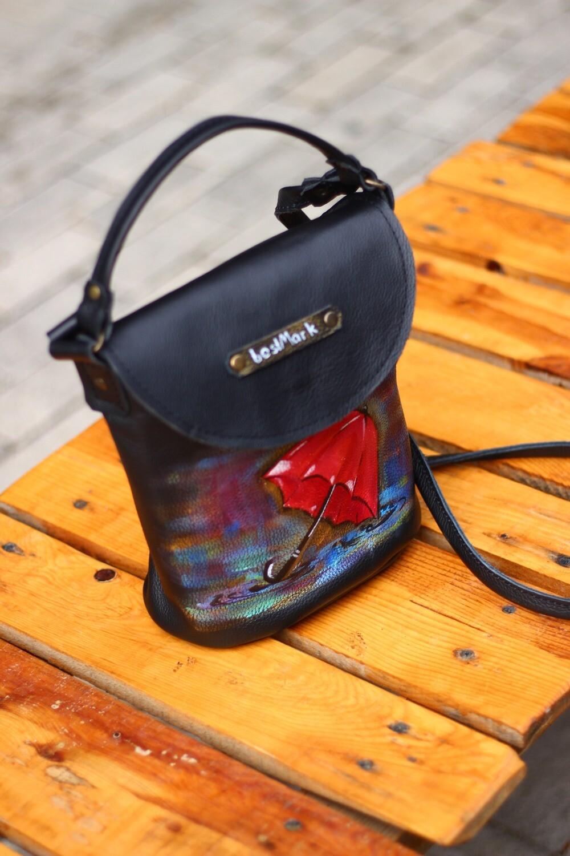 ჩანთა 23x20x12 სმ - Leather Bag