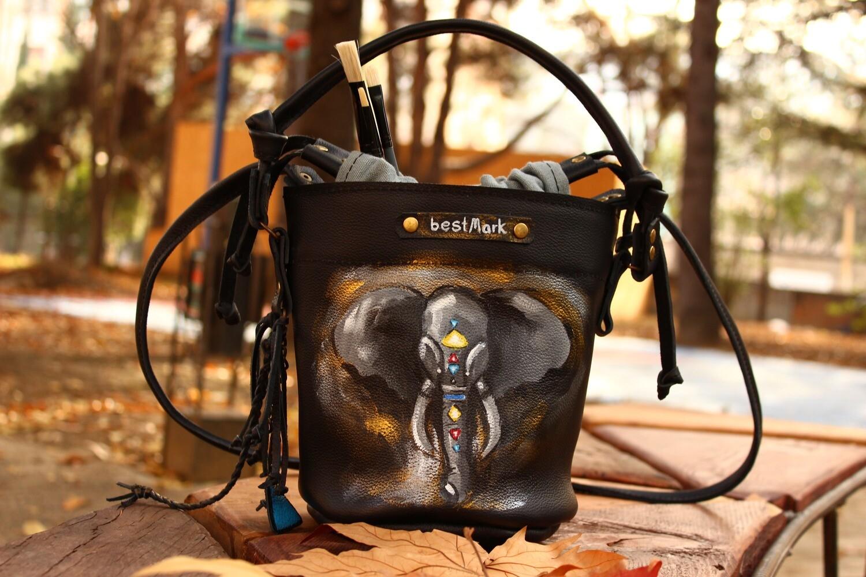 ჩანთა 23x22x17 სმ - Leather Bag