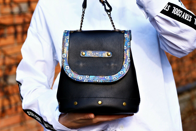 ჩანთა 19x18x12 სმ - Leather Bag