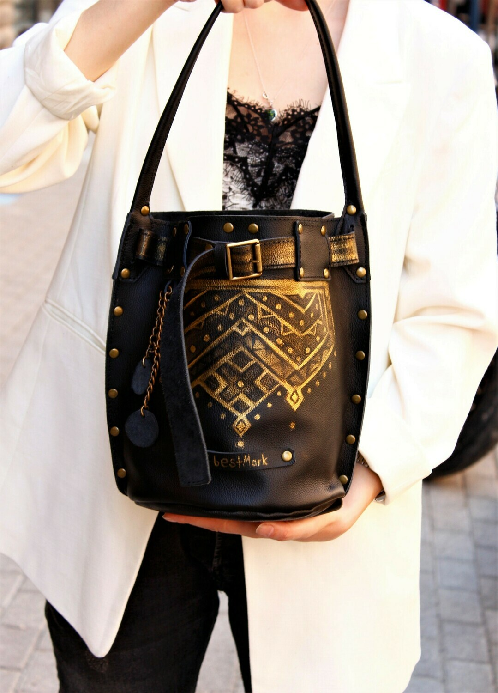 ჩანთა 30x26x19 სმ - Leather Bag