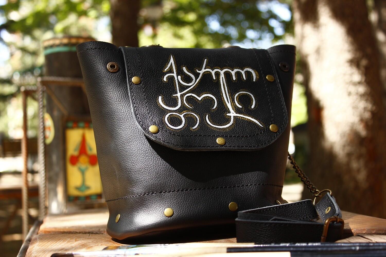 ჩანთა 19x18x8 სმ - Leather Bag