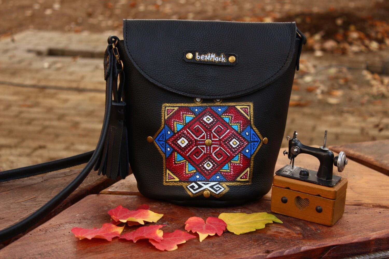 ჩანთა 23x22x13 სმ - Leather Bag