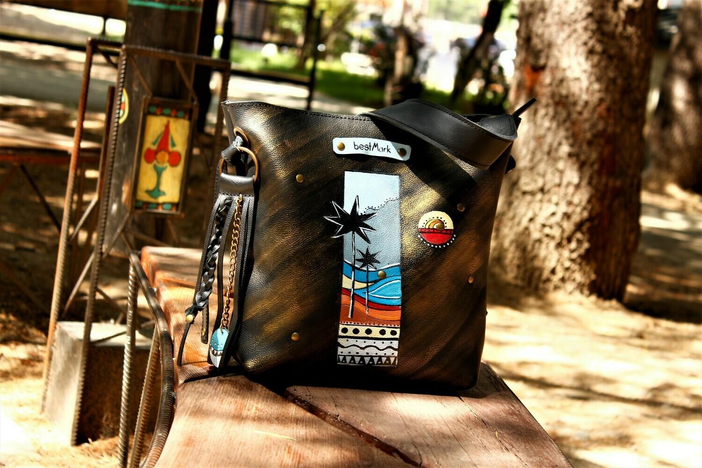 ჩანთა 33x29x10 სმ - Leather Bag