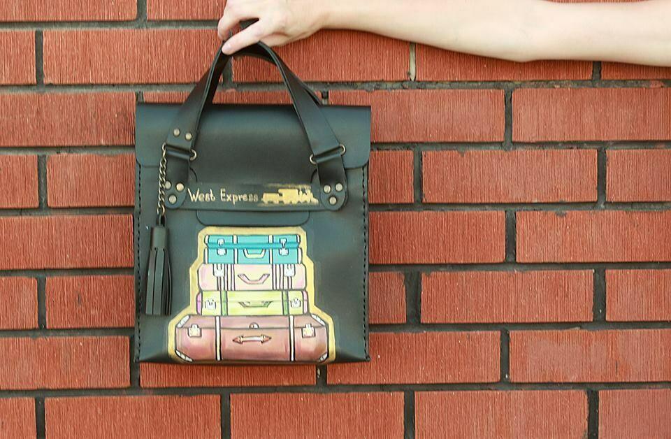 ჩანთა 26x28x10 სმ - Leather Messenger Bag