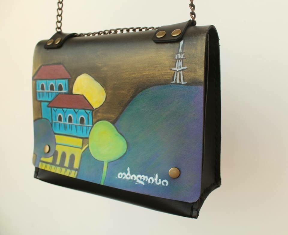 ჩანთა 26x16x10 სმ - Leather Messenger Bag