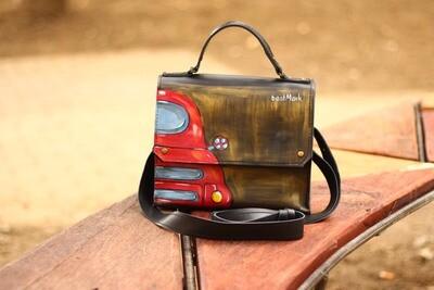 ჩანთა 24x19x10 სმ - Leather Messenger Bag