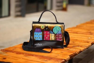 ჩანთა 22x17x8 სმ - Leather Messenger Bag