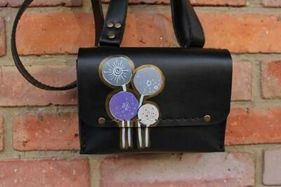 ჩანთა 20x13x8 სმ - Leather Messenger Bag