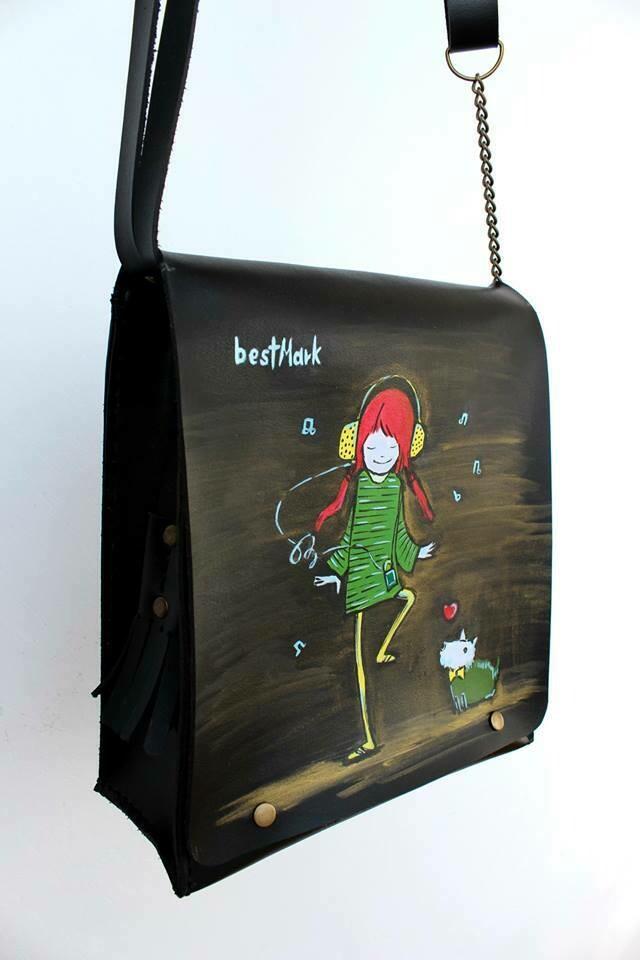 ჩანთა 24x26x10 სმ - Leather Messenger Bag