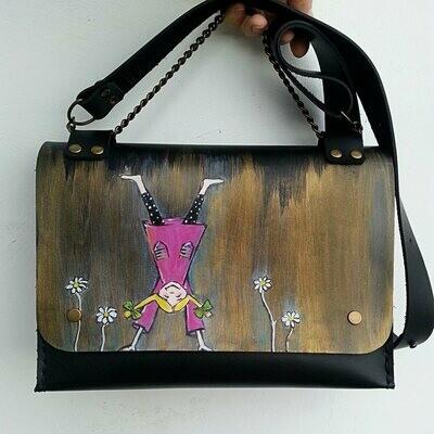 ჩანთა 24x17x10 სმ - Leather Messenger Bag