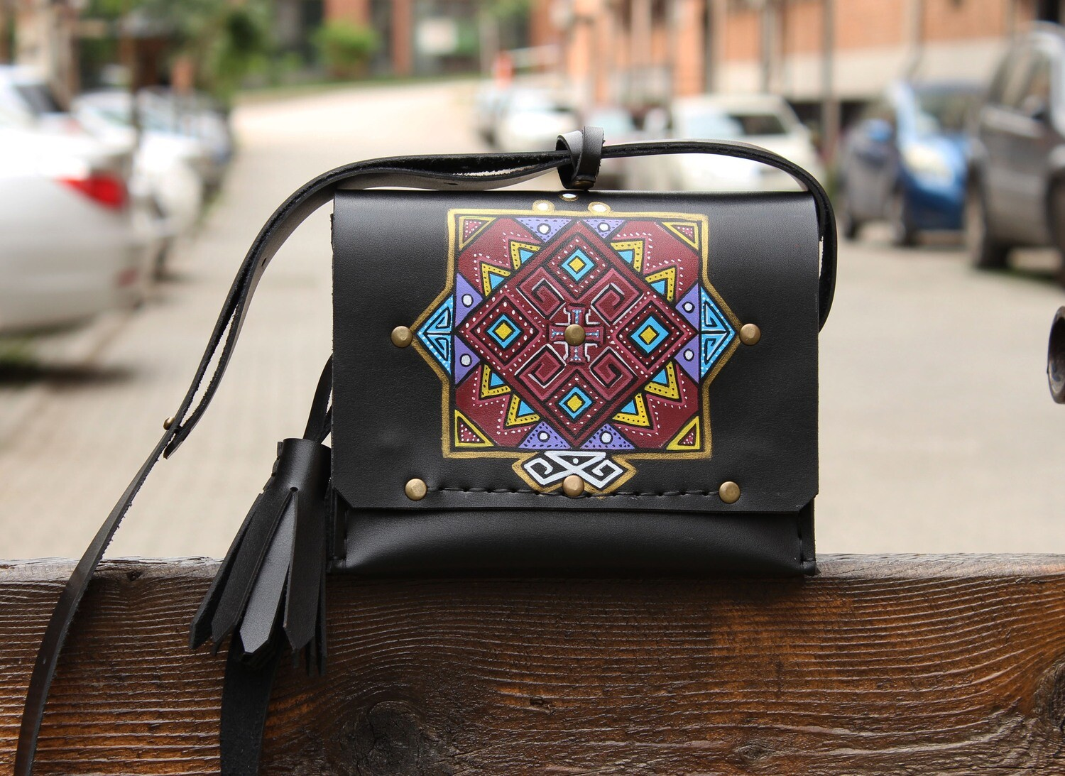 ჩანთა 20x15x10 სმ - Leather Messenger Bag