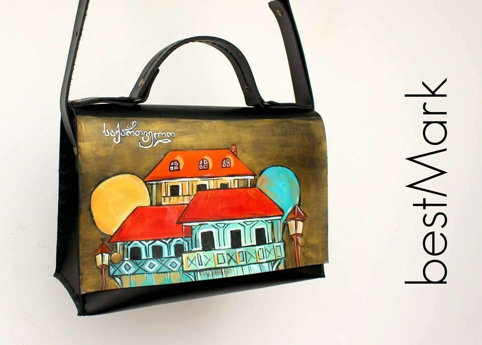 ჩანთა 26x17x10 სმ - Leather Messenger Bag