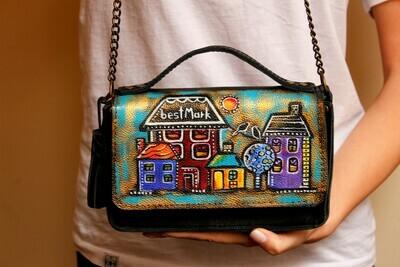 ჩანთა 20x12x6 სმ - Leather Messenger Bag