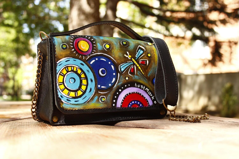 ჩანთა 20x13x7 სმ - Leather Messenger Bag