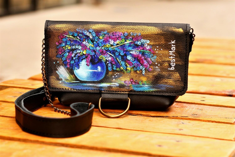 ჩანთა 23x13x5 სმ - Leather Messenger Bag