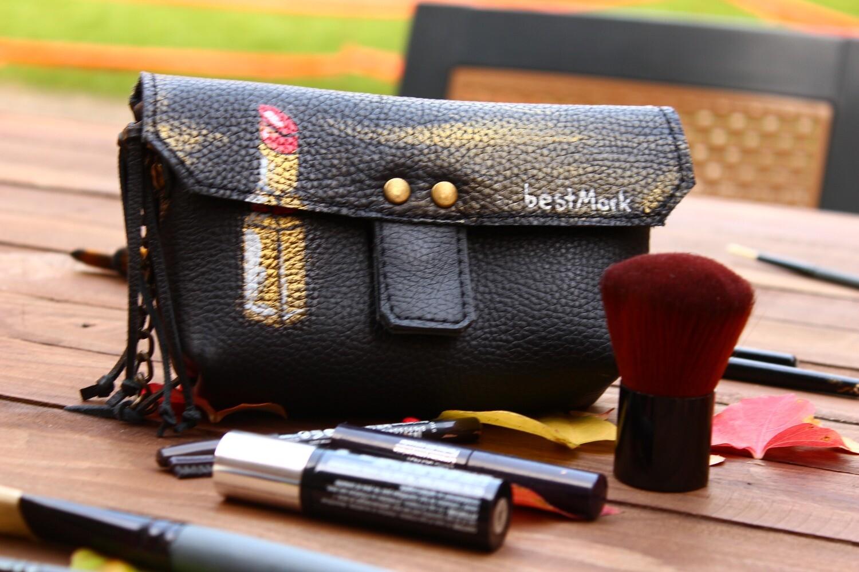 კოსმეტიკის ჩანთა  17x10x4 სმ   Make Up Bag
