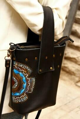 ჩანთა  24x26x9 სმ - Leather Tote Bag