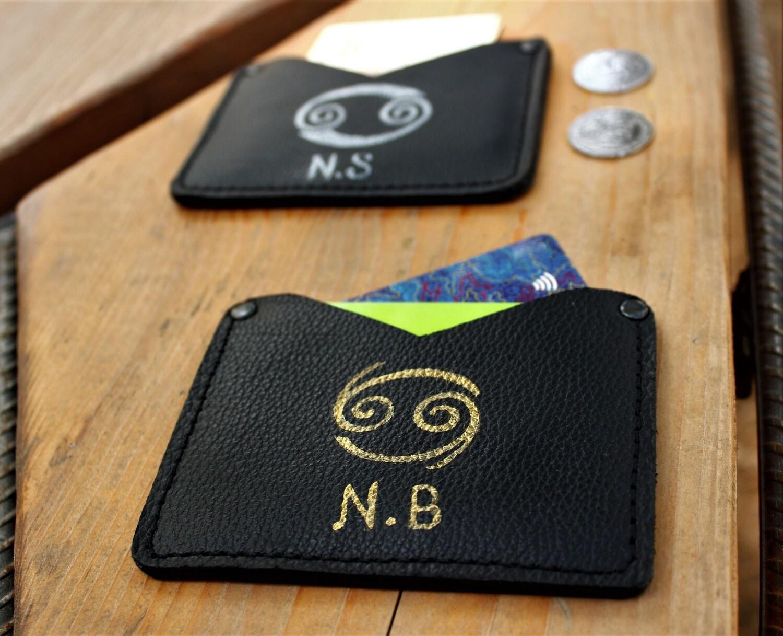 საბარათე 11x8 სმ - Leather Card Holder