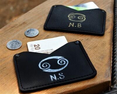 კირჩხიბი* საბარათე 11x8 სმ - Leather Card Holder