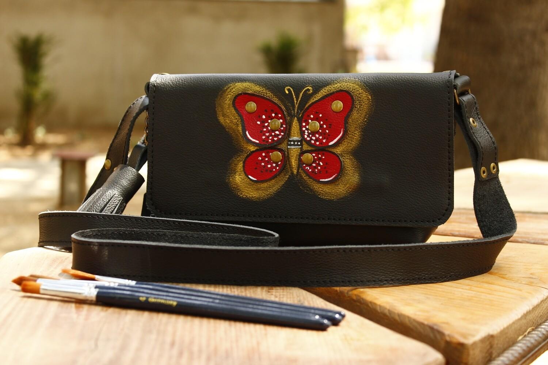 ჩანთა 23x13x5 სმ - Leather Messenger Bag (საფულის გარეშე)