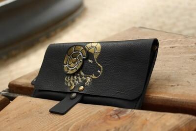 საფულე 21x10 სმ - ვერძი / Leather Wallet Aries