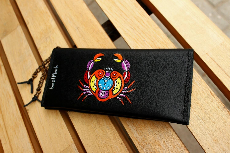 საფულე 21x10 სმ NM - Leather Wallet NM  კირჩხიბი