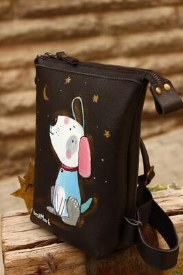 ზურგჩანთა 23×19×6 სმ - Leather Backpack  23×19×6 cm