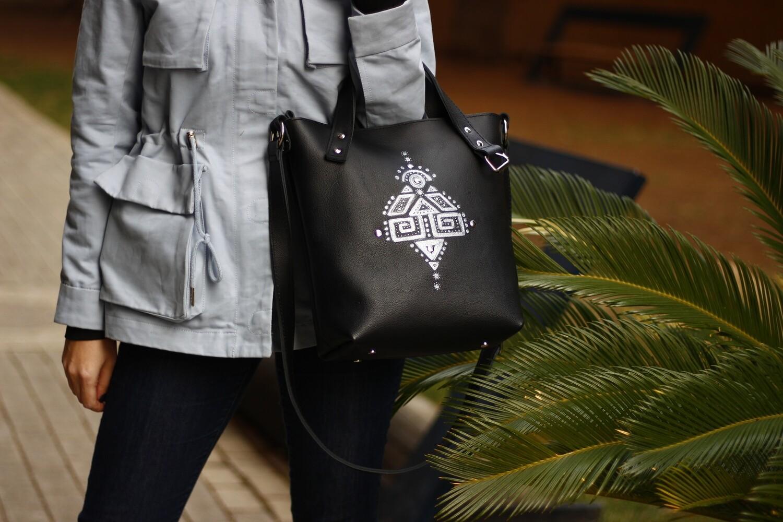 ჩანთა - 39x31x10 სმ Leather Tote Bag