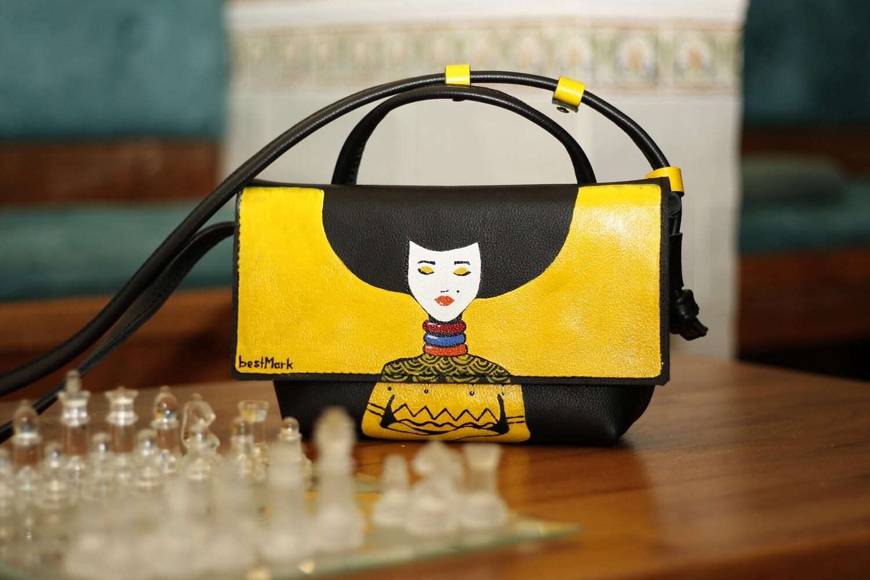 ჩანთა 25x15x7 სმ - Leather Messenger Bag