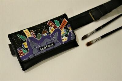 bestMark ქამარი-ჩანთა 20x10 სმ. Max 110 სმ ქამარი- რეგულირებადი - Leather Belt Bag