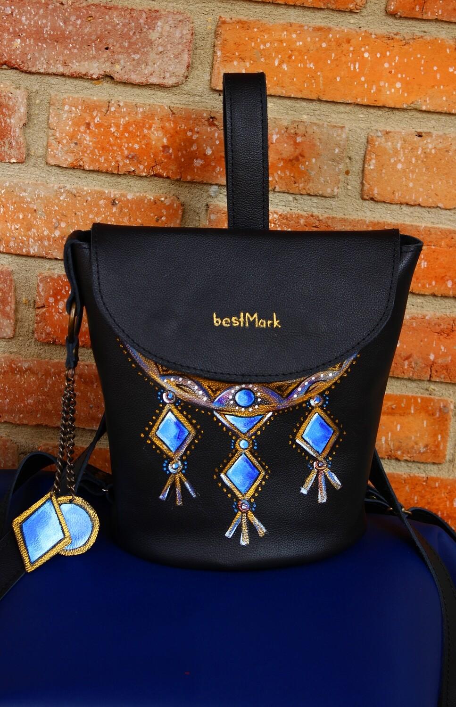 bestMark ზურგჩანთა 26x25x19 სმ - Leather Backpack