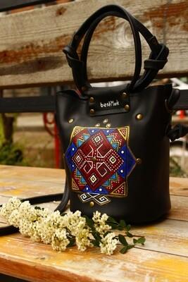 bestMark ჩანთა 20x17x8 სმ Leather Shoulder Bag