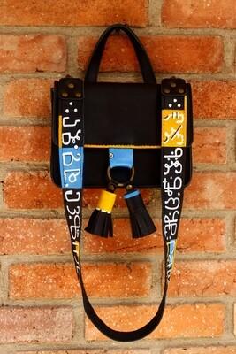 bestMark - ჩანთა ანბანი - Leather Shoulder Bag  21X17x8 სმ