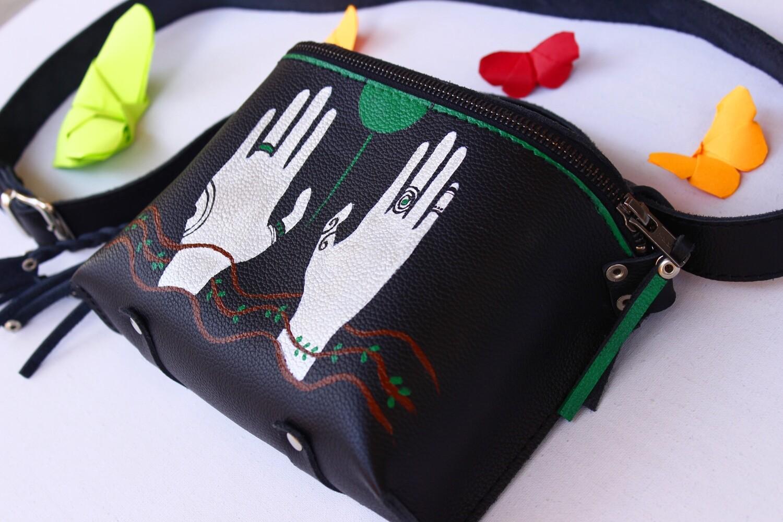 bestMark - ტყავის ჩანთა (მხრის და წელის) 19x14x4 სმ