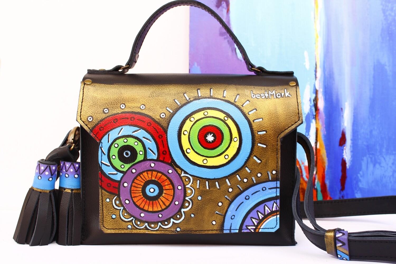 bestMark ჩანთა 26x20x10 სმ - leather handbag