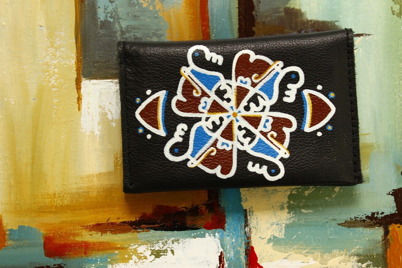 bestMark საფულე 15x10 სმ NM - Leather Wallet NM ორნამენტი
