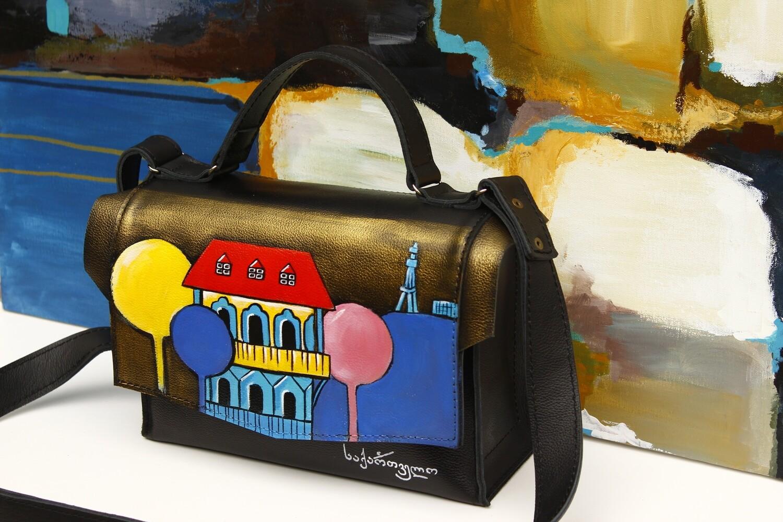 bestMark ჩანთა - საქართველო 26x17x10 სმ - Leather Shoulder Bag