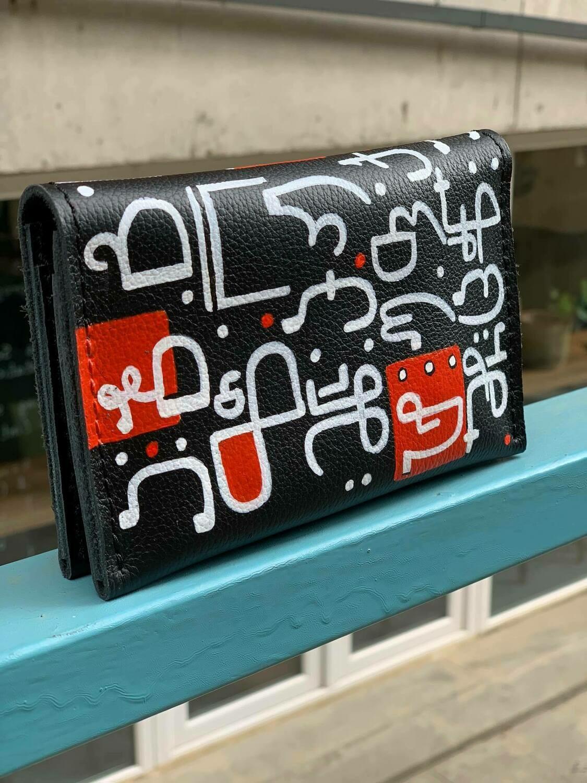 bestMark საფულე ანბანი - leather wallet 15x10 სმ/cm