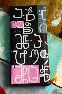 bestMark საფულე ანბანი - leather wallet 21x10 სმ/cm ნახატით