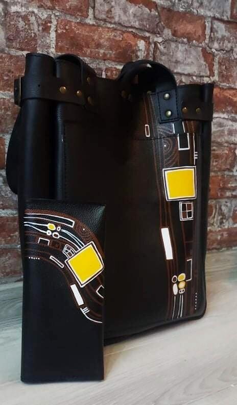 bestMark ჩანთა - Leather Bag 36x29x9 სმ