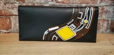 bestMark საფულე - leather wallet 21x10 სმ/cm ნახატით