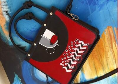 bestMark  ჩანთა - leather bag 23x20x8 სმ წითელი ქალი