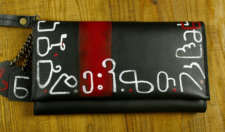 bestMark კლაჩი საფულე 21.5x13.5 სმ/CM - Leather Clutch Wallet