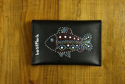 bestMark ქალის საფულე ნახატით 15x10 სმ NM - Leather Wallet NM
