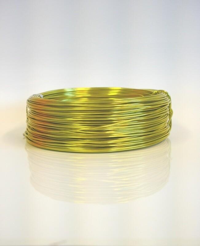 Aluminium Wire Sunny Yellow 500g 60m